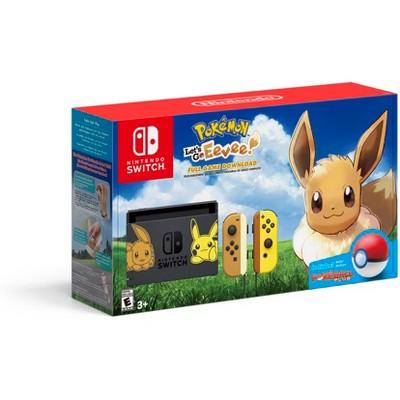 Nintendo Switch Pikachu & Eevee Edition with Pokemon: Let's go Eevee! Bundle