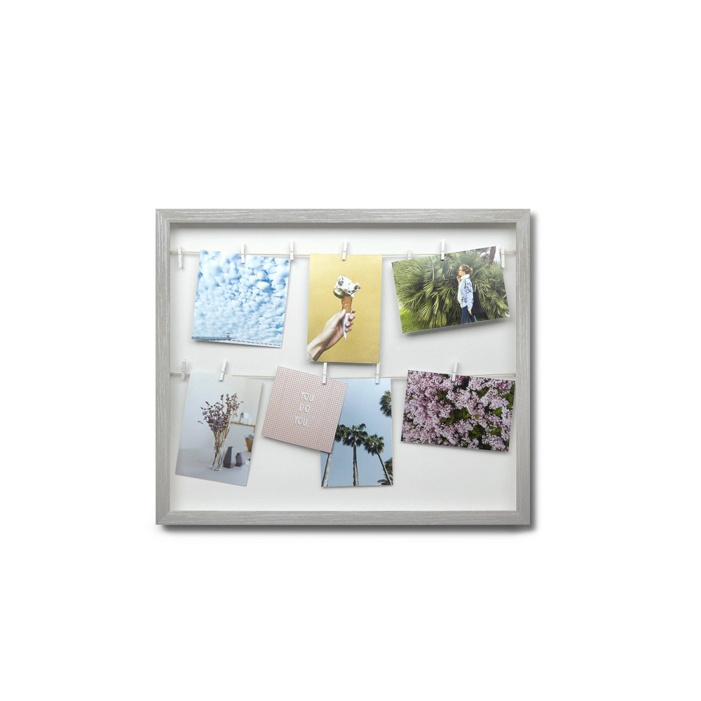 Image of Clothesline Photo Display Gray - Umbra