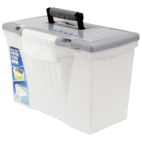 Storex File Storage Box with Organizer Lid, Legal/Letter - Silver - image 1 of 3