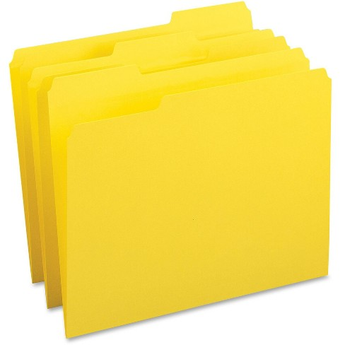 Business Source 100ct Color-Coding Top-Tab File Folders - image 1 of 1