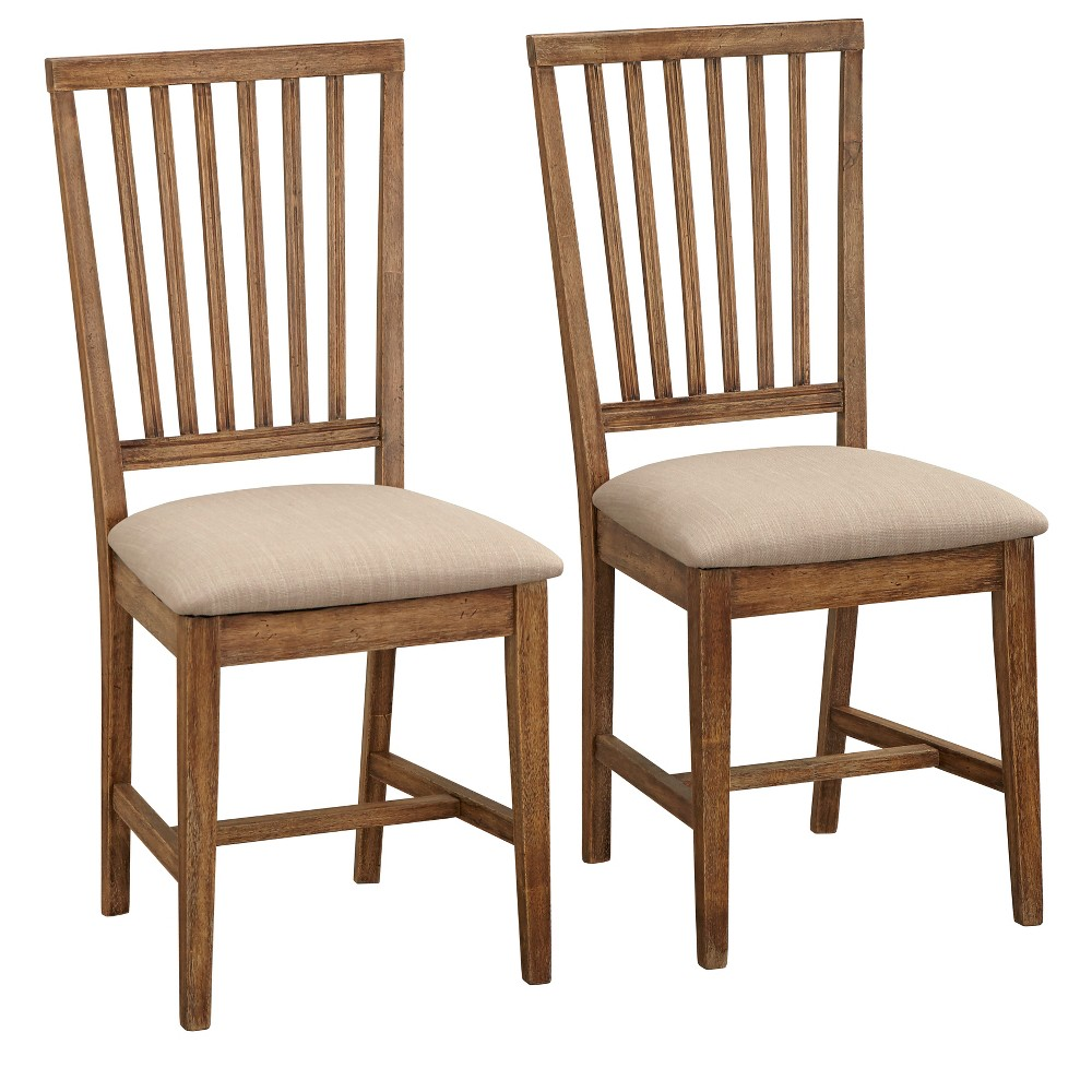 Set of 2 Charlotte Dining Chairs Driftwood - Buylateral