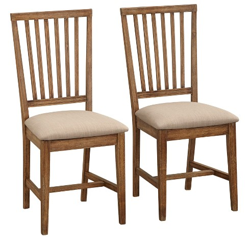Set of 2 Charlotte Dining Chairs Driftwood - Buylateral - image 1 of 4