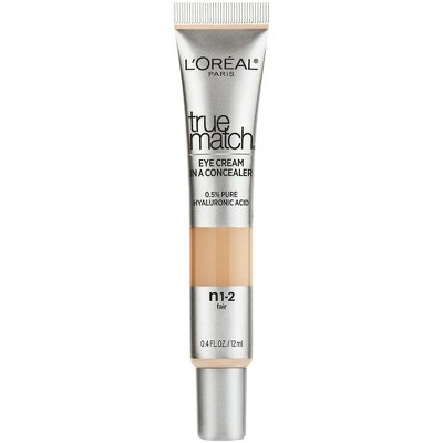 L'Oreal Paris True Match Eye Cream in a Concealer with Hyaluronic Acid - 0.4 fl oz