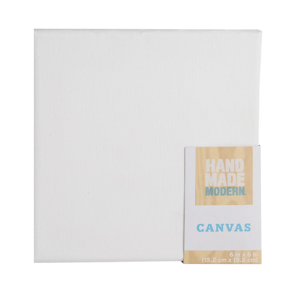 Square Canvas White 6 x 6 - Hand Made Modern