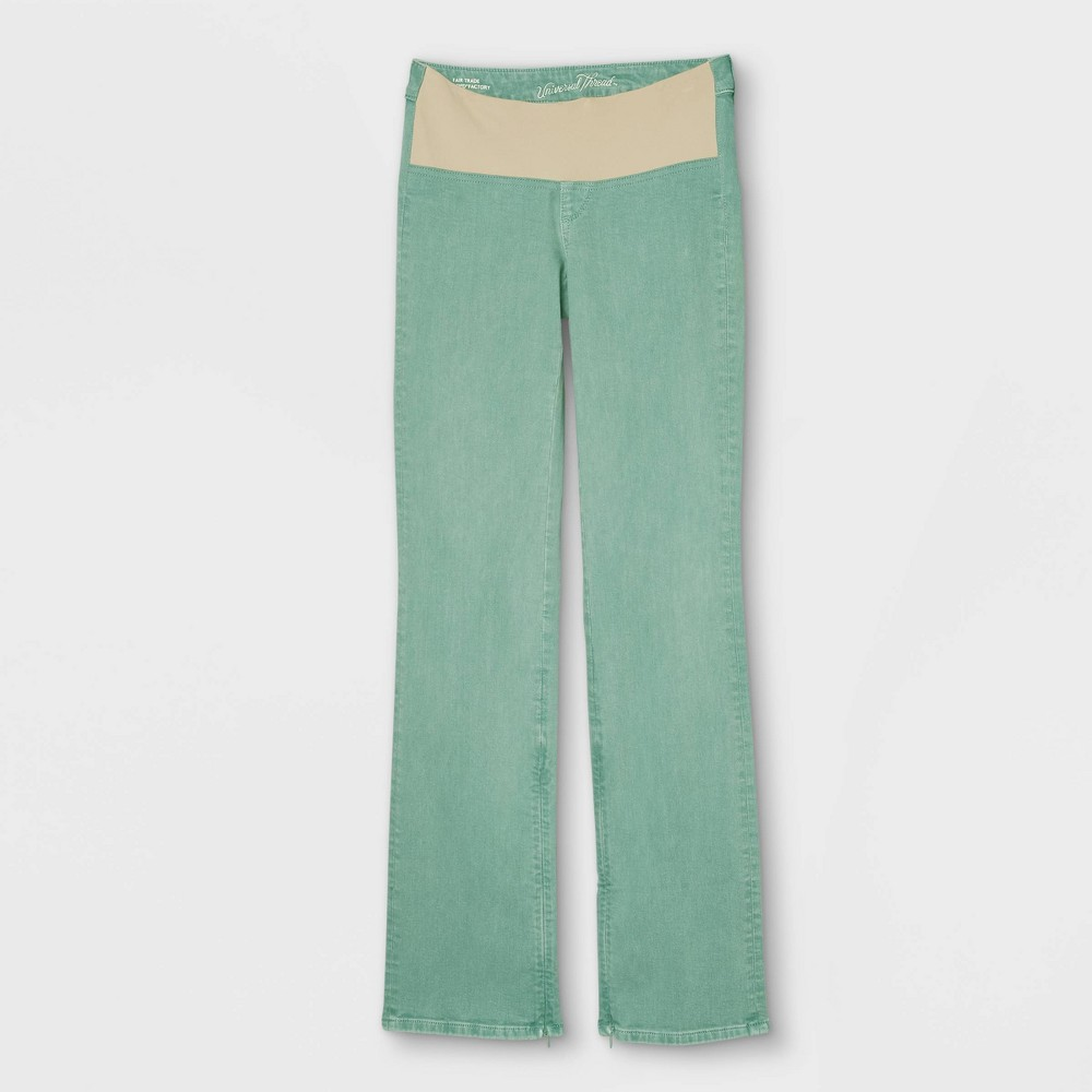 Women 39 S Adaptive Bootcut Jeans Universal Thread 8482 Green 4