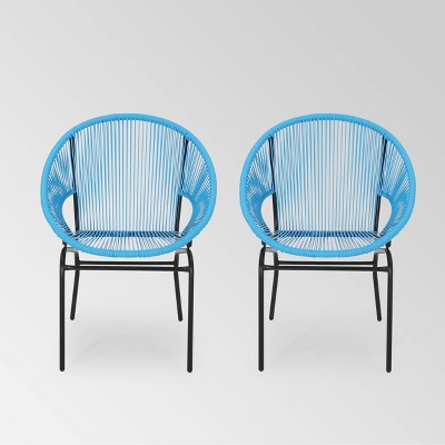 Nusa 2pk Faux Rattan Patio Club Chairs - Christopher Knight Home