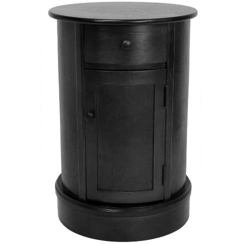 "26"" Classic Oval Design Nightstand - Oriental Furniture - image 1 of 2"