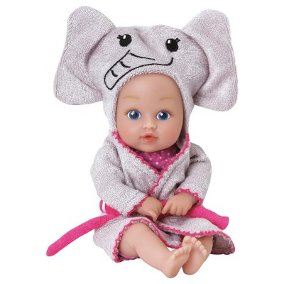 Adora Baby Bath Toy Elephant, 8.5 inch Bath Time Baby Tot Doll with QuickDri Body