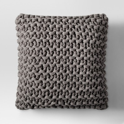 Gray Large Knit Throw Pillow - Project 62™