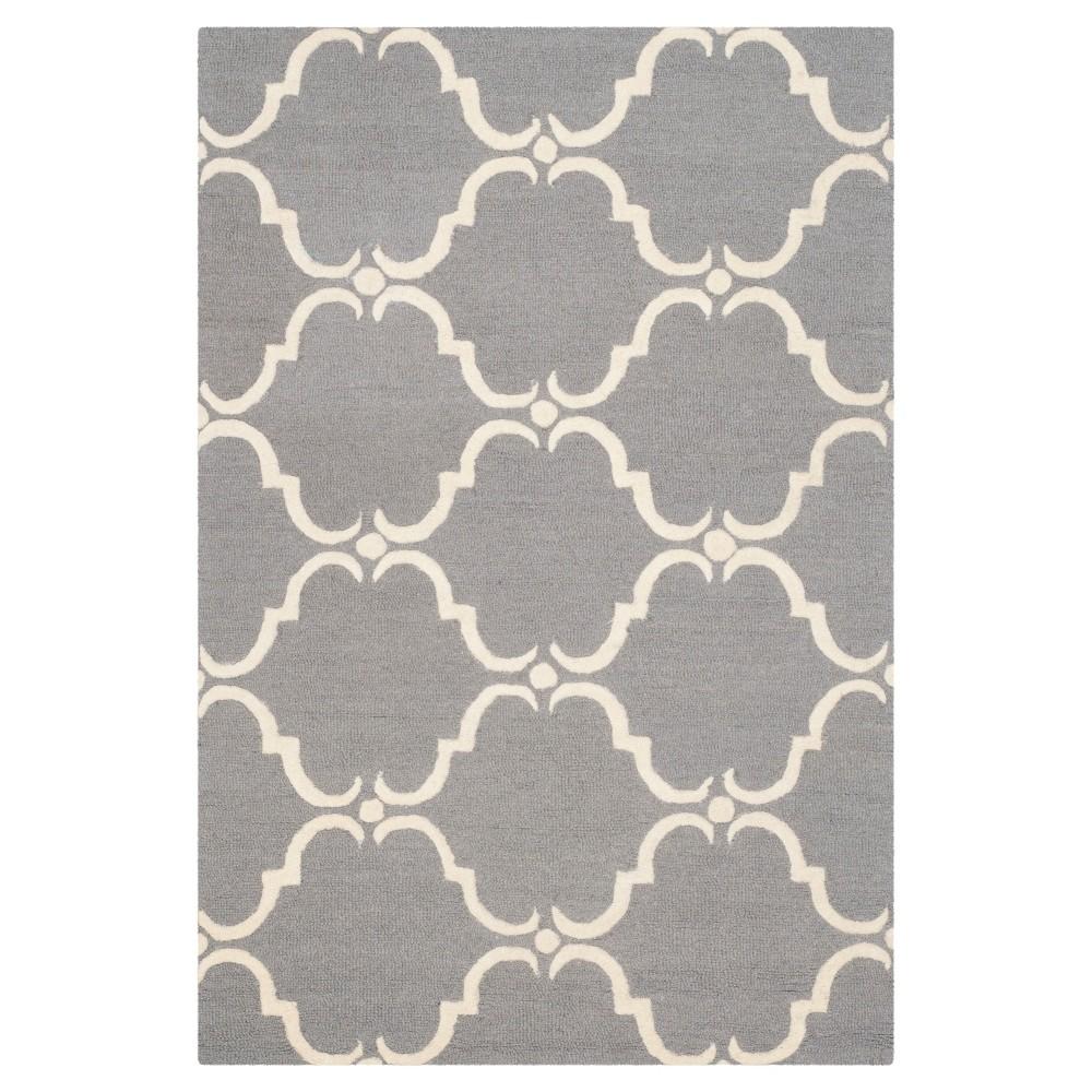 Safavieh Lina Area Rug - Dark Grey / Ivory ( 4' X 6' ), Dark Gray/Ivory