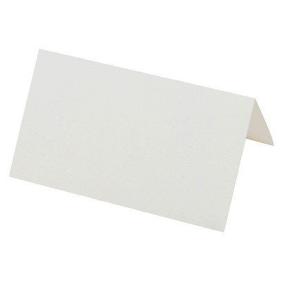 Sustainable Greetings 200-Count White Printable Mini Blank Seating Tent Table Number Signs Place Cards, 2 x 3.5 in