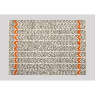 5'x7' Flatweave Chevron Rug Gray/Orange - Threshold™