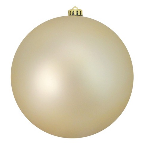 "Northlight Champagne Gold Shatterproof Matte Commercial Size Christmas Ball Ornament 8"" (200mm) - image 1 of 1"