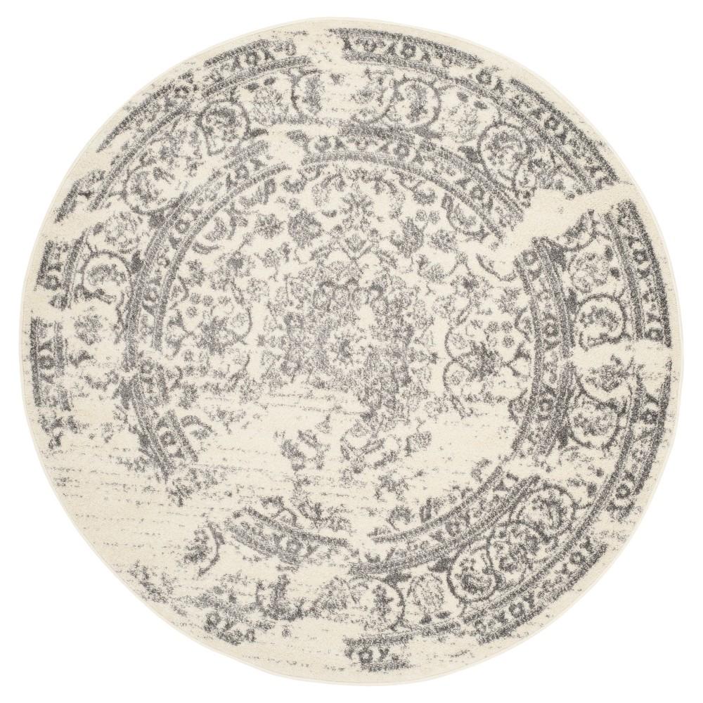 Addaneye Area Rug - Ivory/Silver (10' Round) - Safavieh