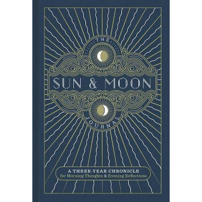 The Sun & Moon Journal (Gilded, Guided Journals) - by Inc. Sterling Publishing Co. (Hardcover)