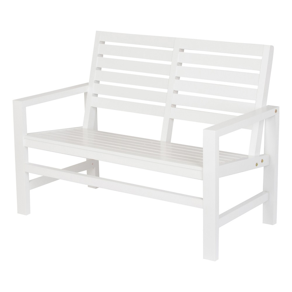 "Image of ""40"""" Contemporary Garden Bench White - Shine Company Inc."""