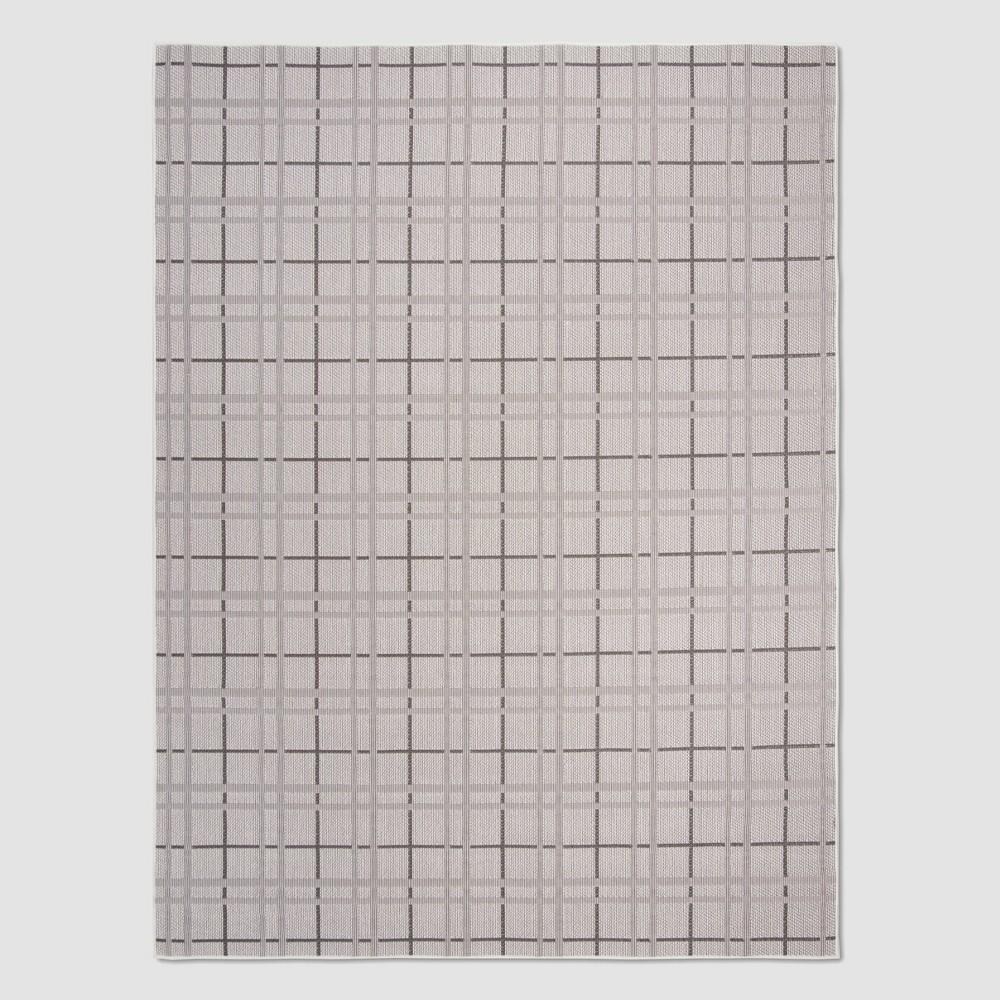 Sandi 9' x 12' Outdoor Rug Ivory/Gray - Safavieh, White Gray