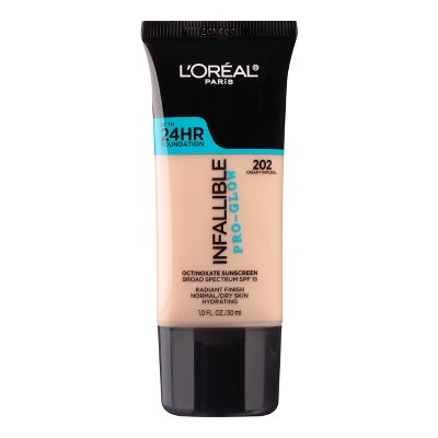 L'Oreal Paris Infallible Pro-Glow Foundation Normal/Dry Skin with SPF 15 - 1 fl oz