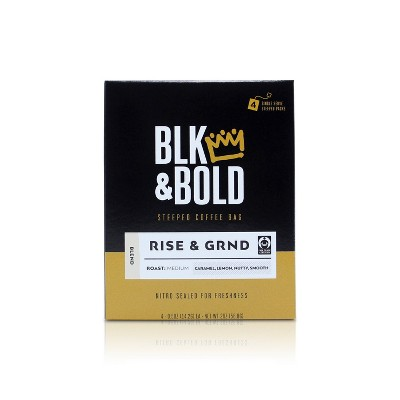 BLK & Bold Rise & Grind Blend Medium Roast Steeped - 0.5oz/4ct