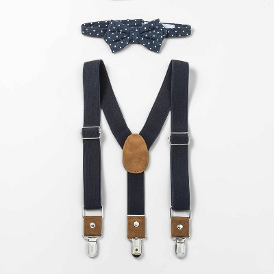 Toddler Boys' Suspender Bowtie Set - Cat & Jack™ Navy