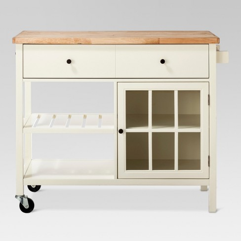 target kitchen island white windham wood top kitchen island off white threshold target 7778