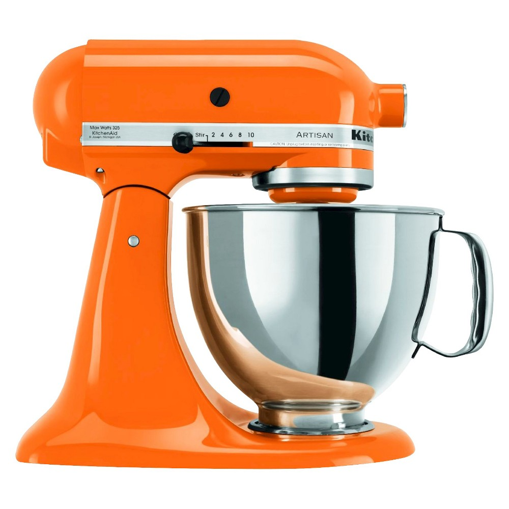 KitchenAid Artisan Series 5 Quart Tilt-Head Stand Mixer- Ksm150, Tangerine Orange 10194699