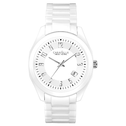 Caravelle New York by Bulova Women's White Ceramic Bracelet Watch - 45M107 - image 1 of 1