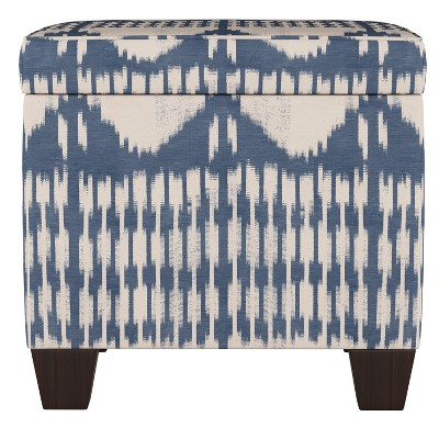 Fairland Square Storage Ottoman Ikat Tonal Blue - Threshold™