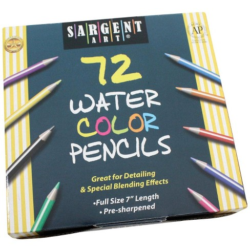 Sargent Art Non-Toxic, Watercolored Pencil Set, 3.3 mm, Assorted Colors, set of 72 - image 1 of 2