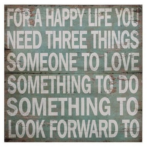 """For A Happy Life Wall Dcor (36""""x36"""") - 3R Studios - image 1 of 4"""