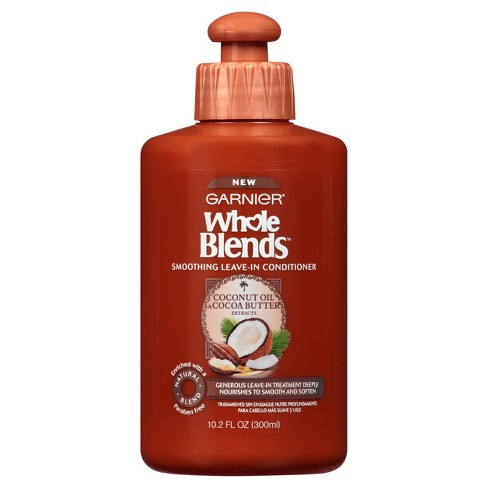 Garnier Whole Blends Coconut Oil & Cocoa Butter Extracts Smoothing Leave In Conditioner - 10.2 fl oz - image 1 of 4
