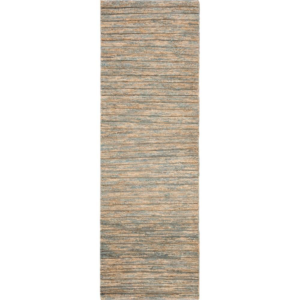 2'6X8' Stripe Woven Runner Blue/Natural - Safavieh