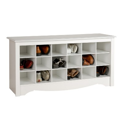 Shoe Storage Cubbie Bench White   Prepac : Target