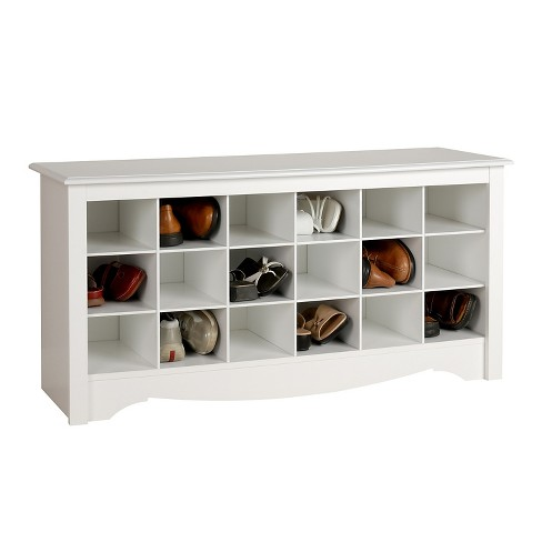 Shoe Storage Cubbie Bench White Prepac All This Item Has 8 Photos Submitted From Guests Just Like You