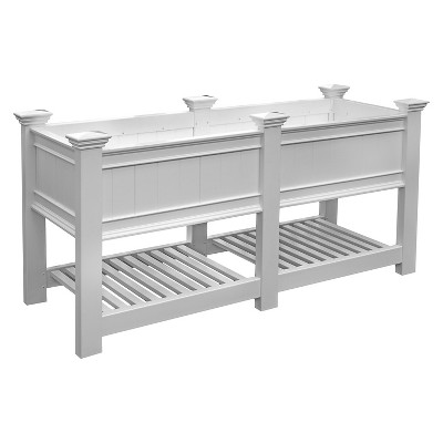 Cambridge Rectangular Planter And Ext Kit - White - Vita