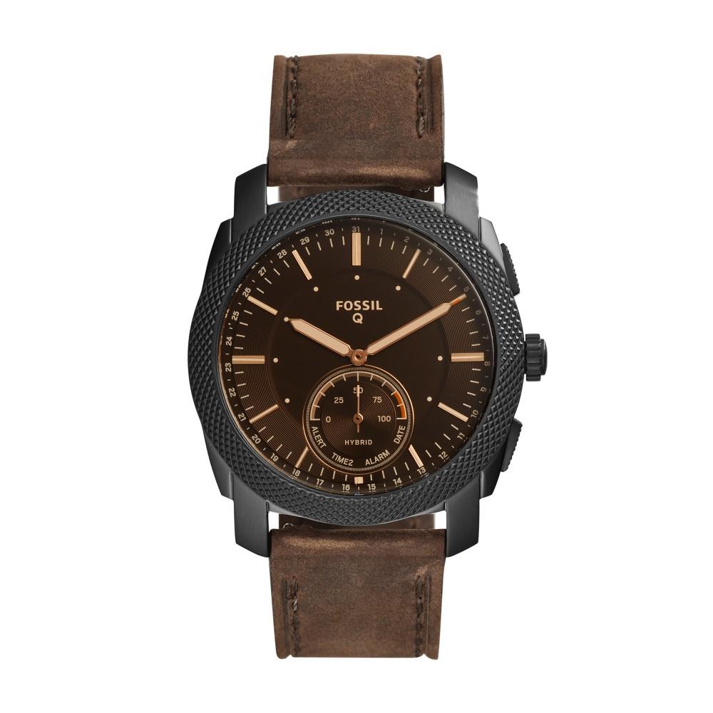 Fossil Hybrid Smartwatch - Machine 45mm Dark Brown Leather