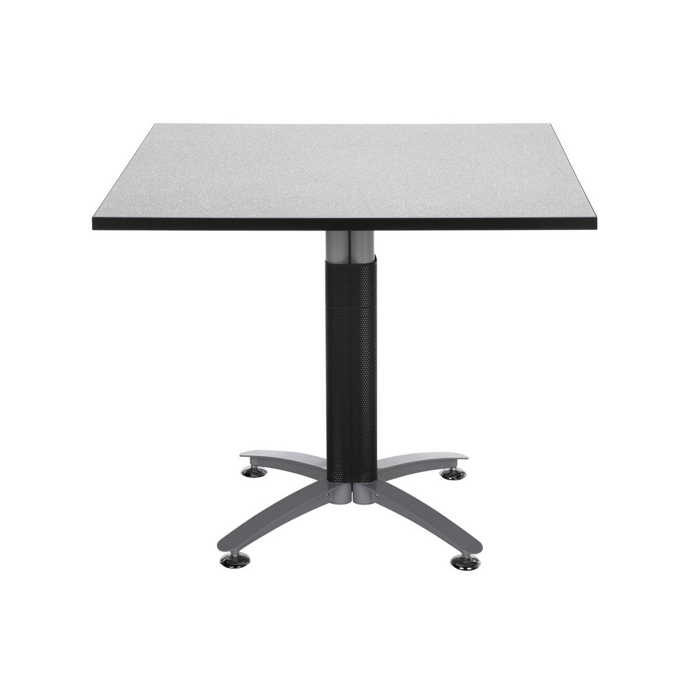 """Image of """"36"""""""" Square Table with Metal Mesh Base Gray Nebula - OFM"""""""