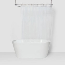 Solid Super Soft PEVA Shower Liner Clear - Room Essentials™