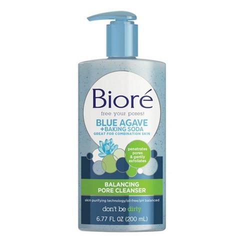Biore Blue Agave + Baking Soda Cleanser - 6 77oz