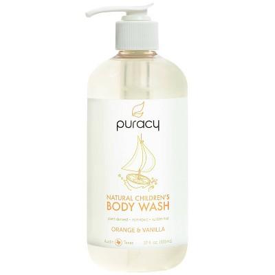 Puracy Natural Children's Body Wash Orange & Vanilla Sulfate-Free Kid's Soap - 12oz