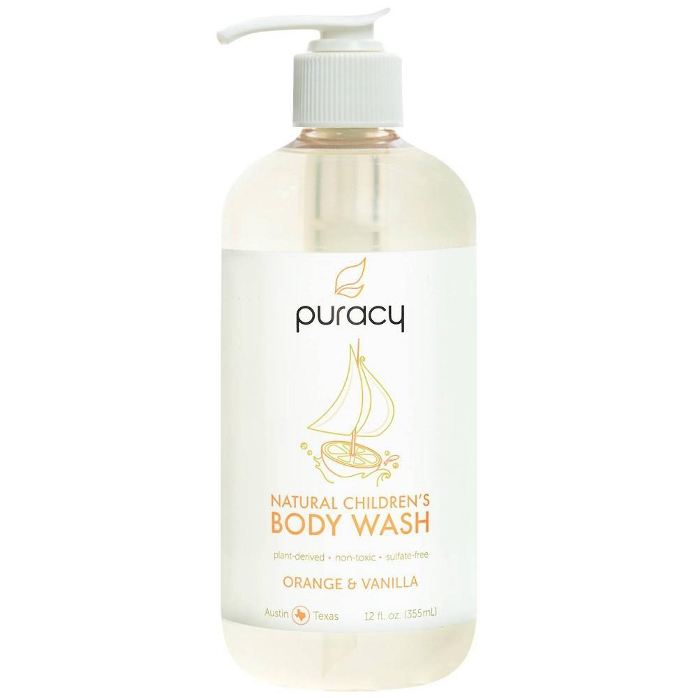 Image of Puracy Natural Children's Body Wash Orange & Vanilla Sulfate-Free Kid's Soap - 12oz