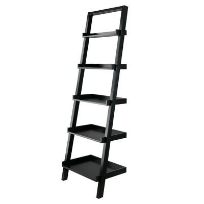 "69.36"" Bellamy Leaning Shelf Black - Winsome"