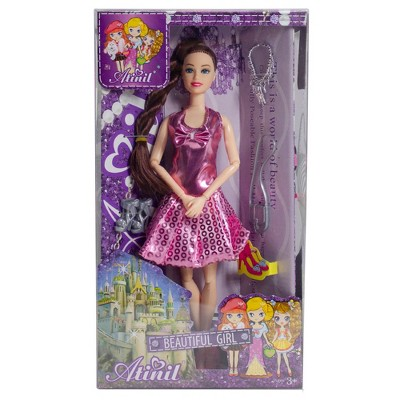 """Northlight Set of 2 Play Dress Up Diva Fashion Girls with Multiple Accessories 11"""""""
