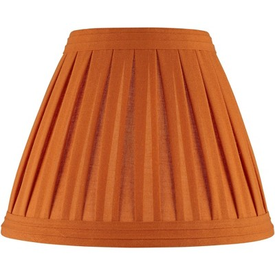 Springcrest Burnt Orange Linen Box Pleat Empire Shade 7x14x11 (Spider)