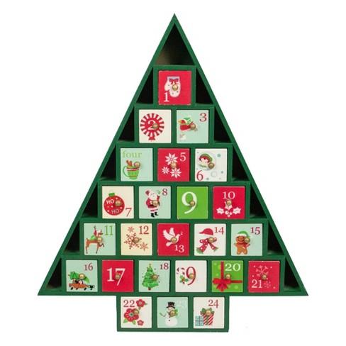 Northlight 15 Green Tree Shaped Christmas Advent Calendar Decoration - image 1 of 4