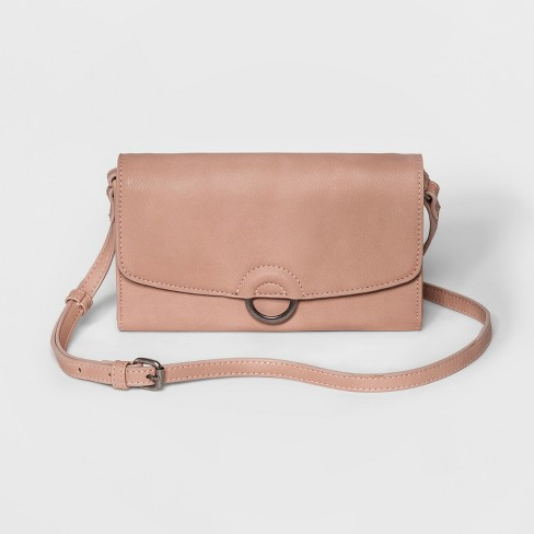 Ring Wallet On A String Clutch - Universal Thread™ Blush   Target e0e5d84a62374