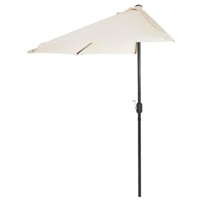 9' Half Round Patio Umbrella - Pure Garden