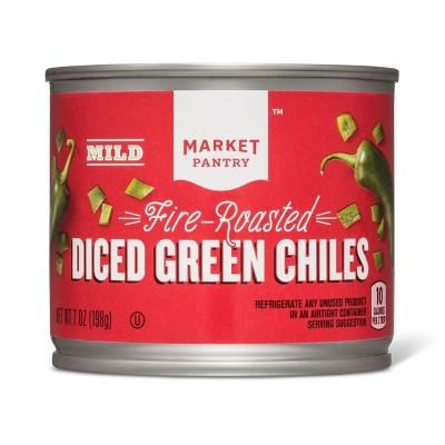 Diced Green Chiles Mild 7oz - Market Pantry™