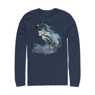 Men's Frozen 2 Elsa Horse Water Spirit Long Sleeve Shirt