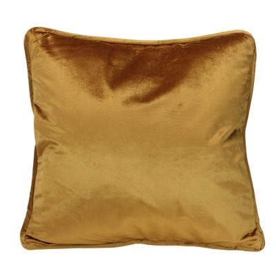 """Northlight 17"""" Square Solid Plush Indoor Throw Pillow - Gold"""